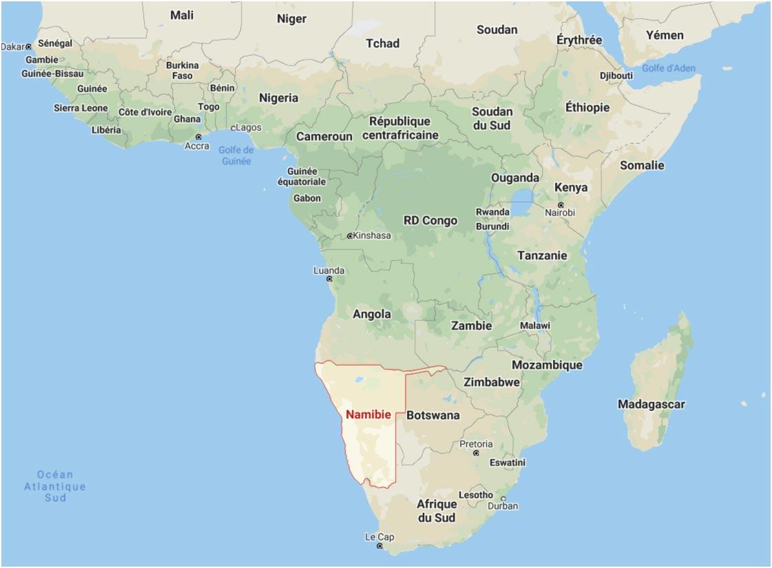 Namibie en Afrique